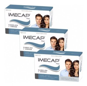 Imecap Hair Cabelos E Unhas Com 60 Cápsulas 3 Unidades