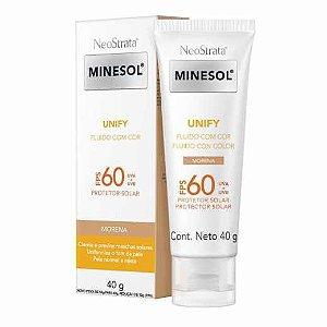 Neostrata Minesol Unify Fluido Cor Morena Fps 60 40g