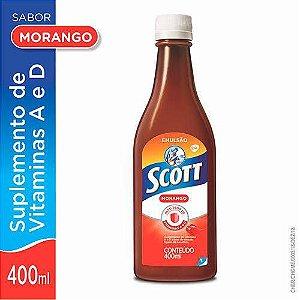 Scott Emulsão Morango Suplemento De Vitamina A e D 400ml