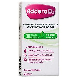 Addera D3 2.000ui 30 Com Cápsulas Gelatinosas