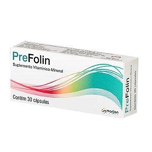 Prefolin Com 30 Cápsulas Suplemento Vitamínico Mineral
