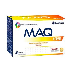 Maq Derma Com 30 Cápsulas Suplemento De Vitaminas E Minerais