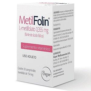 Metilfolin Com 30 Comprimidos Suplemento Vitamínico