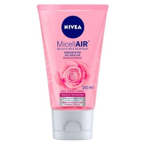 Nivea Sabonete Gel Facial Micellair Água de Rosas 150ml