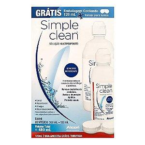 Simple Clean Solução 360ml + 120ml + Estojo para Lentes