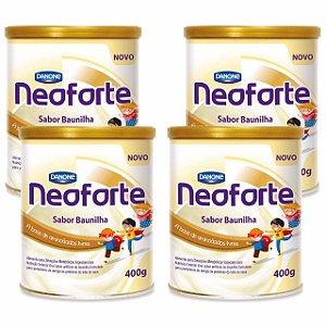 Neoforte Suplemento Infantil Sabor Baunilha 400g 4 Unidades