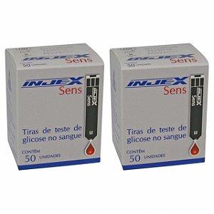 Tiras Reagentes Injex Sens com 50 unidades 2 Caixas