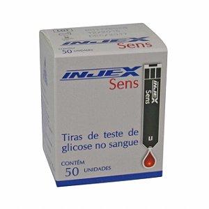 Tiras Reagentes Injex Sens com 50 unidades