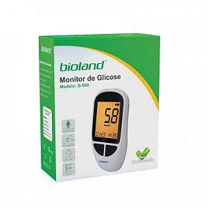 Kit Medidor De Glicose Completo Mod G-500 Bioland