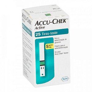 Accu-Chek Active com 25 Tiras Reagentes