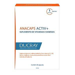 Anacaps Activ+ Suplemento de Vitaminas e Minerais 30 Cápsulas Ducray