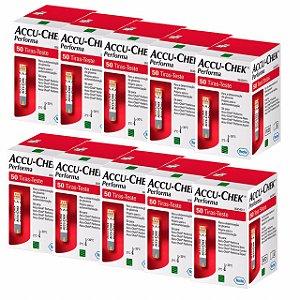 Accu-Chek Performa Com 50 Tiras Reagentes 10 Unidades Validade 11/2021