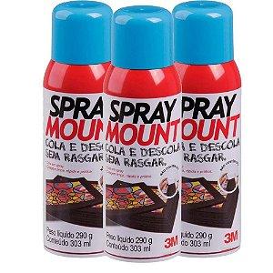 Cola Spray Mount 3M 290g 3 Unidades