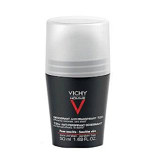 Desodorante Vichy Homme Roll-On para Peles Sensíveis 72H 50ml