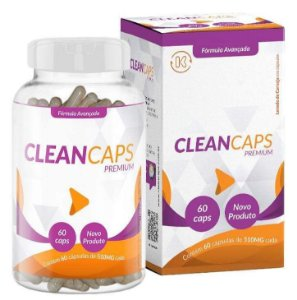 Clean Caps Premium Para Cravos e Espinhas Com 60 Cápsulas