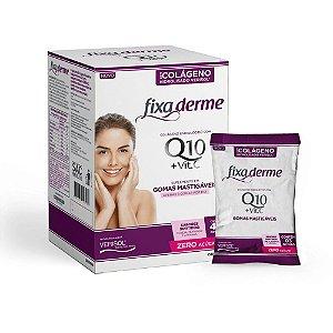 Colágeno Hidrolisado Fixa Derme Q10 + Vit C Com 45 Gomas
