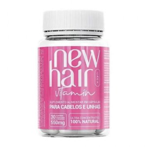 New Hair Caps Women Para Cabelos e Unhas Com 30 Cápsulas
