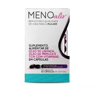 Meno Aliv Contra Sintomas Da Menopausa Com 60 Cápsulas