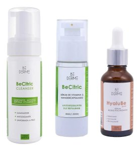 Sabonete Vitamina C 150ml + Be Citric Sérum 30ml + Ácido Hialurônico 30ml