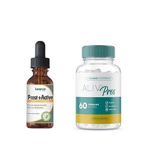 Prost Active Para Diminuição Da Próstata 30ml + Alivi Pros Com 60 Cápsulas