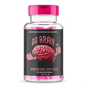 Suplemento Alimentar Go Brain Com 60 Cápsulas Pote Pink 30g