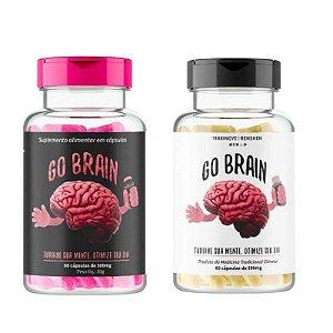 Kit Suplemento Alimentar Go Brain Com 60 Cápsulas