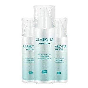Clarevita Creme Clareador Facial 30ml 3 Unidades