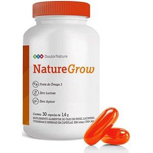 Nature Grow Vitamina Para Fortalecimento Dos Cabelos Com 30 Cápsulas