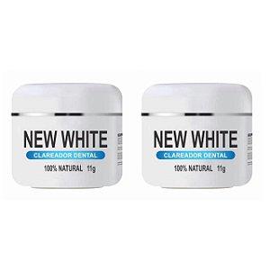 New White Clareador Dental 11g 2 Unidades