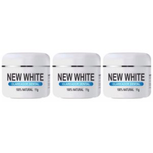 New White Clareador Dental 11g 3 Unidades