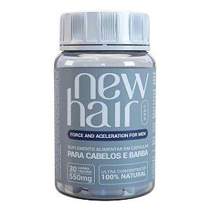 New Hair Caps Masculino Para Cabelos e Barba 30 Cápsulas