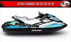 Adesivo Jet Ski GTI 130 SE 14/19  -  Line Racing Cyan