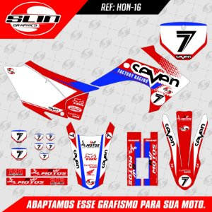 Adesivo Honda Seven Racing