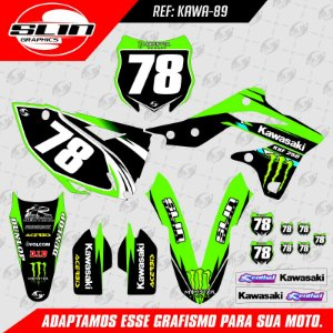Adesivo Kawasaki Kxf 250 13/16 - Monster Energy Racing