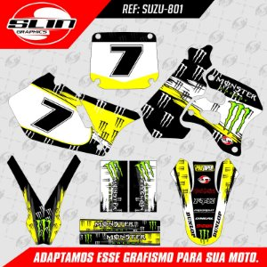 Adesivo Suzuki RM 98/99 - Monster Energy