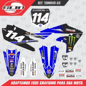 Adesivo Yamaha YZF 250/450  - Equipe Monster Energy Star Racing