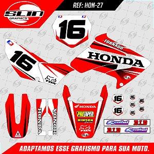 Adesivo Honda Racing Flow Racing