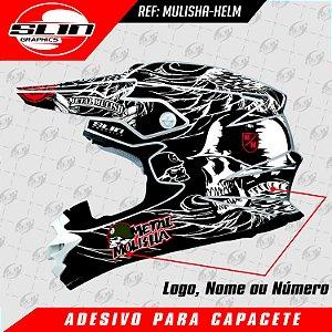 Adesivo Capacete Metal Mulisha - Rockstar Energy