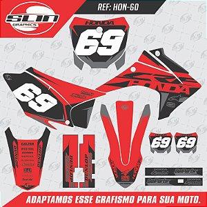 Adesivo Honda Crf 230 15/19 -  Racing  Black Design