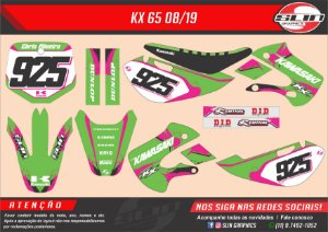Adesivo Kawasaki kx 65 08/19 - Pink Racing