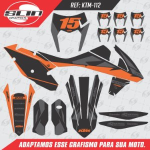 Adesivo Ktm 250/350/450 EXC Orange Black Design
