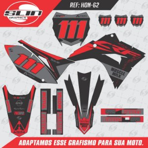 Adesivo Honda Crf 230 - Flux Black Design