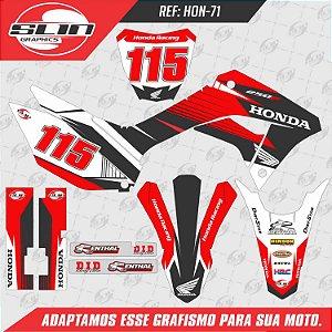 Adesivo Honda Crf 250f 19/20 Nacional - Line Racing