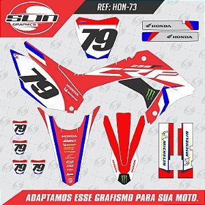 Adesivo Honda Crf 250f 19/20 Nacional - Honda Monster