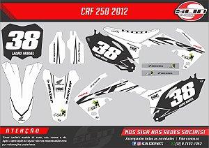 Adesivo Crf 250/450 Branca + Capa de banco