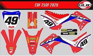 Adesivo Honda Crf 250f 19/20 Nacional -  Hrc Racing 2020  + Capa de banco