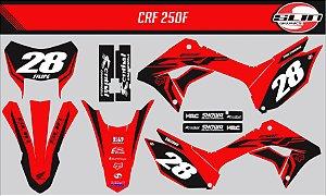 Adesivo Honda Crf 250f 19/20 Nacional - Black Flow Edition