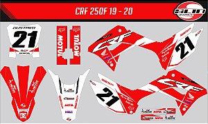 Adesivo Honda Crf 250f 19/20 Nacional - Red Moto Style