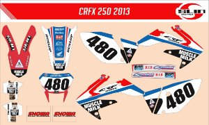 Adesivo Honda Crf 250x - Muscle Milk Team + Adesivo Suspensão