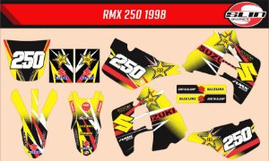 Adesivo Suzuki Rmx 250 - Rockstar Energy Drink